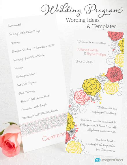 folded wedding programs wedding program wording magnetstreet weddings