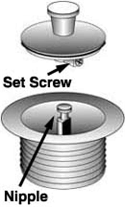 i can t get the stopper of my drain off the top screws