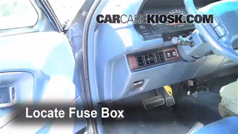 interior fuse box location   oldsmobile