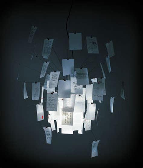 design bureau magazine suspension zettel 39 z 5 inox papier blanc et imprimé ø