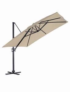 Parasol Déporté Carré : parasol carr 3x3 d port couleur crue ozalide parasol store jardin concept ~ Mglfilm.com Idées de Décoration
