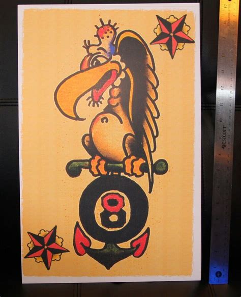 navy buzzard anchor  vintage sailor jerry traditional
