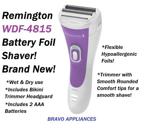 remington wet dry cordless twin foil shaver bikini trimmer