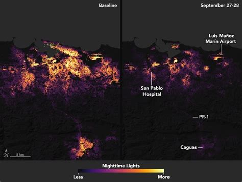 Satellite images taken at night are shedding light on just how much of puerto rico doesn't have any power. Satellite Images Of Puerto Rico Before & After Hurricane Maria Put That Massive Power Outage ...