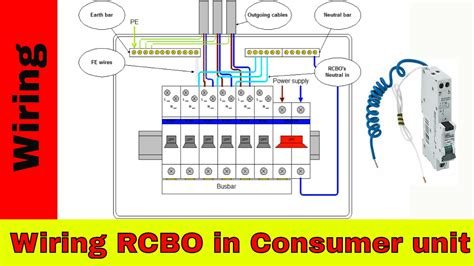 How Wire Rcbo Consumer Unit Wiring Youtube