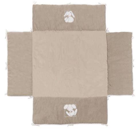 nattou tapis de parc avec bord lapidou 100x100 cm