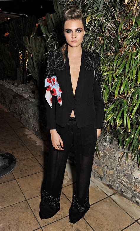 Cara Delevingne Chose An Embellished Tuxedo For The Calvin
