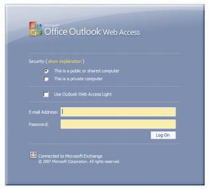 How to login to Outlook Web Access (OWA)