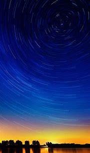 Sunset Lake Circle Stars Sky Smartphone Wallpaper ⋆ GetPhotos