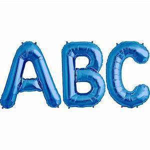 balloon foil letter large blue foil balloons With blue foil letter balloons