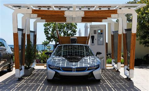 Carport Tops by Bmw S Solar Powered Carport Concept Charges Evs