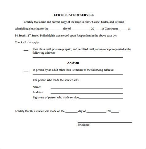 certificate  service templates sample templates
