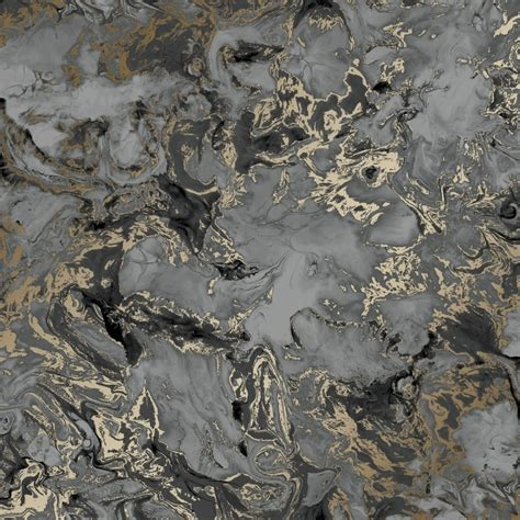 Liquid Marble Wallpaper In Charcoal And Gold I Love Wallpaper