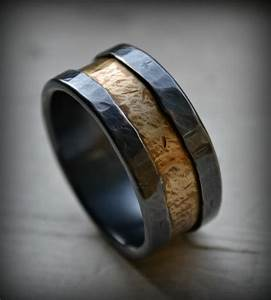 Mens wedding band rustic fine silver and brass ring for Mens brass wedding ring