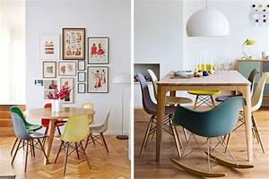 La chaise dsw eames et ses declinaisons joli place for Deco cuisine avec chaise de salle a manger design blanche