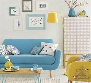 Idée Déco Salon Scandinave : 1001 id es cr er une d co en bleu et jaune conviviale ~ Melissatoandfro.com Idées de Décoration