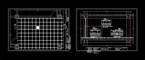 raised floor system  autocad  cad