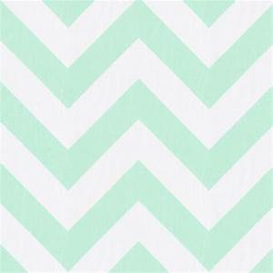 Mint Zippy Chevron Fabric by the Yard Green Fabric