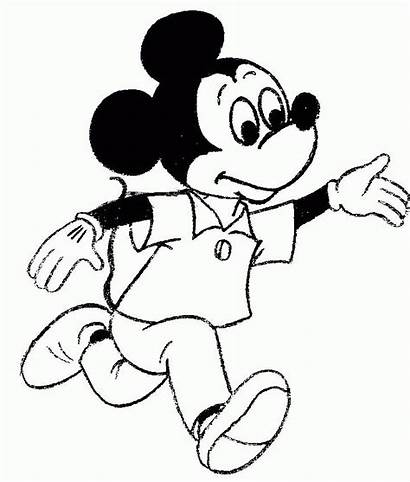 Coloring Mickey Mouse Drawing Topolino Colorare Disney