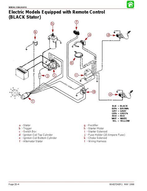 wiring diagram   mercury el page  iboats