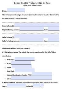 Transport Bill Sle by Free Motor Vehicle Bill Of Sale Form Pdf Word Doc