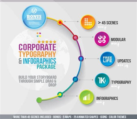corporate typography infographics pack  effects