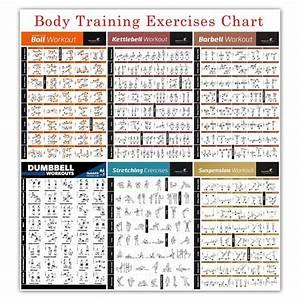 Bodybuilding Gym Sport Fitness Dumbbell Poster Kettlebell Workout Exercise Training Chart Art