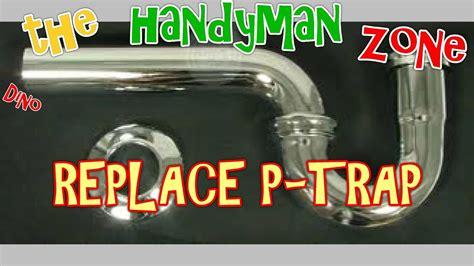 replace leaky bathroom sink drain pipe p