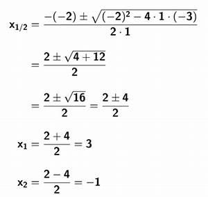 Mitternachtsformel Berechnen : nullstellen quadratischer funktionen mathetraining f r die fachoberschule ~ Themetempest.com Abrechnung