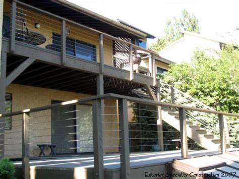 cable deck railing cost cable railing deck for the home pinterest