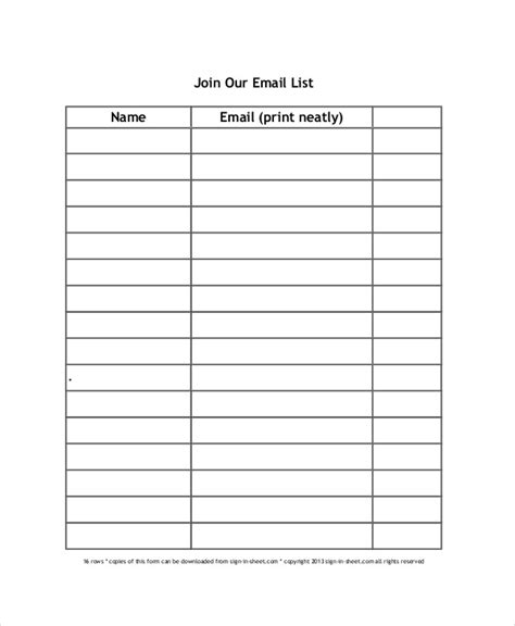 Sign Up Sheet Template Word Sign Up Sheet Template Doliquid