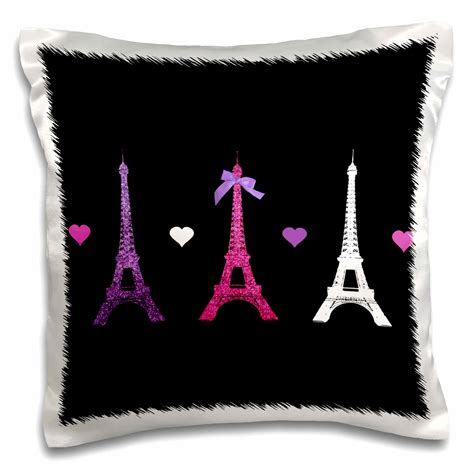mainstays eiffel tower throw pillow black walmartcom