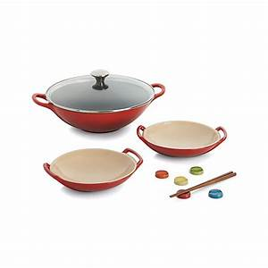 Wok Le Creuset : le creuset cherry wok set in woks crate and barrel ~ Watch28wear.com Haus und Dekorationen