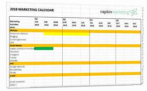 2018 marketing calendar template download napkin marketing With retail schedule template