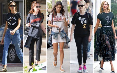 Def Leppard Concert Pictures Celebrity Looks Get A Slogan T Shirt