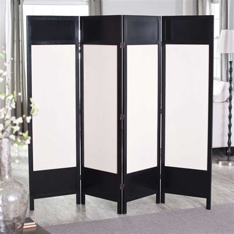 folding screens room dividers splendid folding partitions for rooms featuring black and