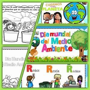 Fabulosos diseños e imagenes para colorear del día mundial del medio ambiente Material Primaria