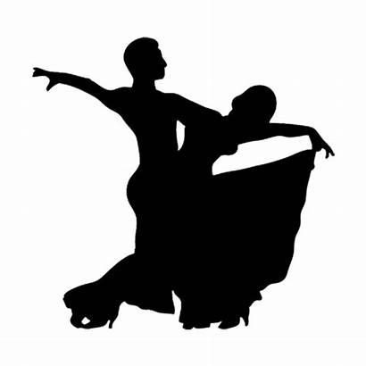 Silhouette Ballroom Dance Waltz Etiquette Dancer Clipart