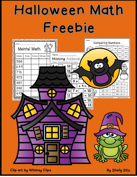 halloween math freebiepdf google drive  images