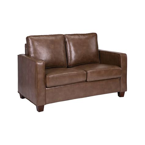 Bonded Leather Loveseat by Square Arm Bonded Leather Loveseat Threshold Ebay