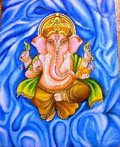 Beyond24Colours: Oil Painting : Lord Ganesha