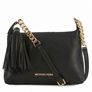 Michael Kors Weston Grained Leather Crossbody Bag in Black ...