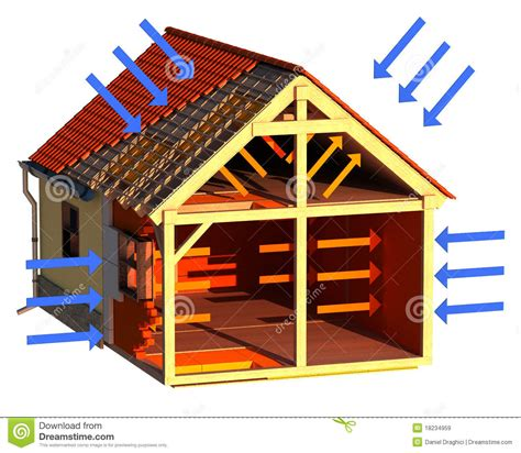 insulated house house insulation stock illustration illustration of