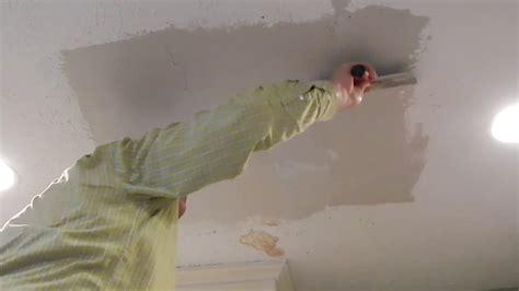 drywall repair  stipple textured ceiling   minutes