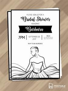 bridal shower printable bride line art wedding With brides printable wedding invitation kits template