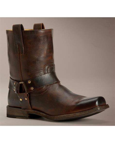 american motorcycle boots frye men 39 s smith harness antique boot 87067 tan ebay