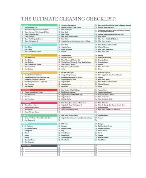 Editable Cleaning Schedule Template Household Cleaning ...