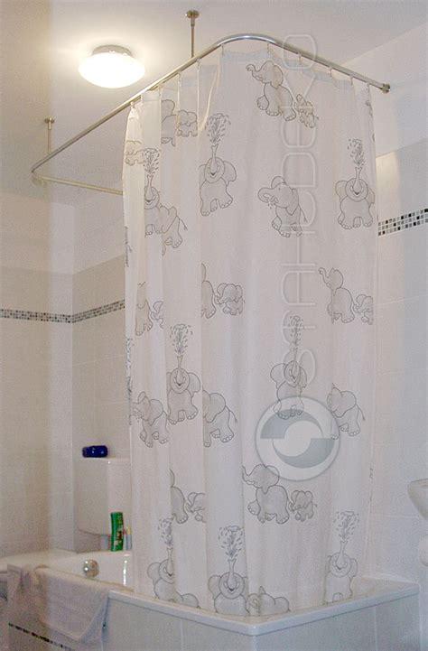 duschvorhangstange badewanne u form duschvorhangstange u form barrierefrei f 252 r badewannen oder dusche edelstahl oder wei 223