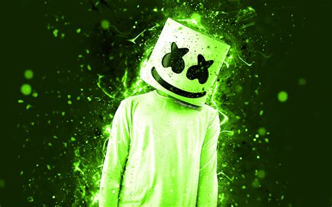 4k Resolution Neon Marshmello Wallpaper 3d by Wallpapers Christopher Comstock 4k Dj