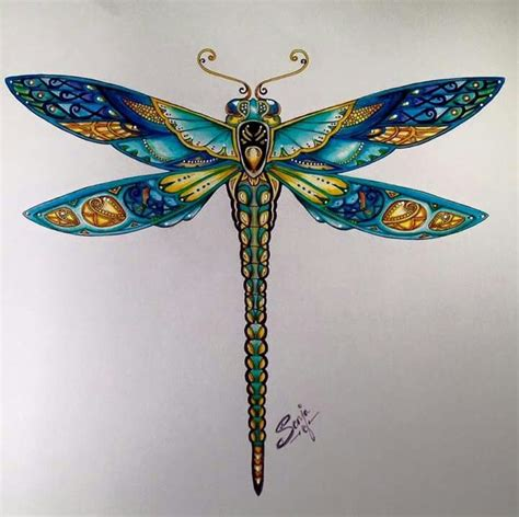 pin  jayme brewer  dragonflies dragonfly art